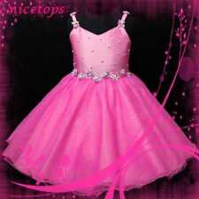 Hot Pink Prom  Wedding Party Flower Girls Dress Age 3-8