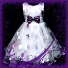 LT Purples Fancy Wedding Party Flowers Girls Dress 3-8Y