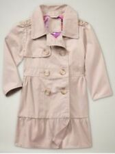 NWT Baby Gap Fifth Avenue Ruffle Trench Coat Fawn Beige NEW Girls Jacket 4T 5T