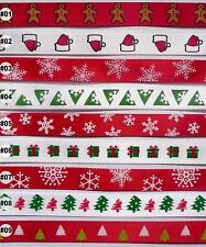 2 metres Christmas satin RIBBON 9mm (9 options U Pick)