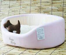 Pet Dog Cat Soft Bed House +dog toy Pink/Brown S,M,L