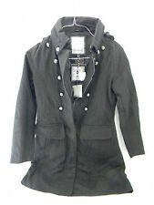 New Dollhouse Black Military Button Coat