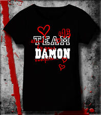 TEAM DAMON STAND BY YOUR VAMPIRE T SHIRT  LADIES SEXY  FITTED &NONFITTED TSHIRTS