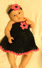 Handmade Crocheted Baby Dress And Matching Headband *You Choose Size*