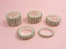 STRETCH Wedding Bridal  AUSTRIA CRYSTAL Rhinestone RING  ~1 Row - 5 Row ~
