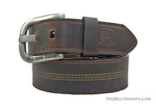 John Deere Brown Oil Tanned Leather Belt - Sizes 34 - 46 (Brand New with Tags)