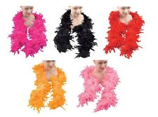 LADIES BURLESQUE #FEATHER BOA ALL COLOURS FANCY DRESS OUTFIT ACCESSORY