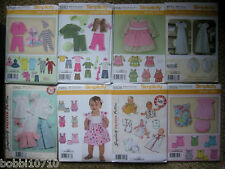 SIMPLICITY BABY PATTERNS XXS-L 17 STYLES ALL SEASONS ALL SPORTSWEAR LAYETTES ETC
