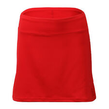 Women Red Tennis Skirt WITH Compression Shorts Skort XS, S, M, L, XL 15 inches