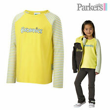 """NEW BROWNIES LONG SLEEVE T-SHIRT TOP BROWNIES GIRL GUIDES UNIFORM SIZE 26""""-36"""""""