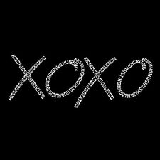 Women's V-neck T-shirt - XOXO - Word Art Free Shipping!
