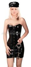 Adult GOTHIC Police Officer PVC Corset Dress Size S-2XL Clubwear Costume A2788