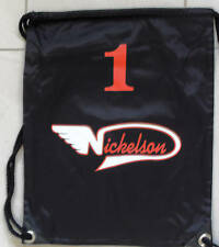 Nickelson Bag Gym pull String Bag  Sack Back Pack with Logo Black,Navy