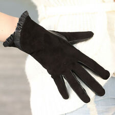NEW WARMEN Women's GENUINE Suede & leather Winter Warm gloves Christmas Gift