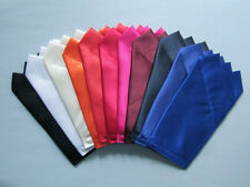 Satin Pocket Squares - Square is folded to just slip in pocket- Many Colors