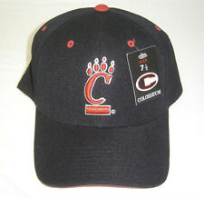 Black University of Cincinnati UC Bearcats Black 3D Embroidered Fitted Cap / Hat