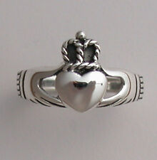 Lovely Sterling Silver Celtic Claddagh Irish Commitment Ring EV97