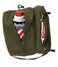 New Rothco Heavyweight Cotton Canvas Dual Compartment Travel Shave Kit