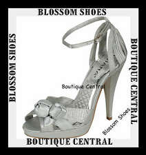 DESIGNER SHOES SILVER DIAMANTE HEELS AU 8.5, 9, 10, 11 PARTY/EVENING