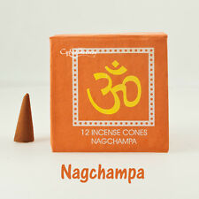Yoga Incense Cones: Nag Champa, Sandalwood, Amber, Patchouli, Musk (Assorted)