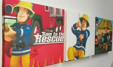 3 X DEEP EDGE CANVAS PICTURES FIREMAN SAM BRAND  NEW!!