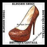 WOMEN SHOES BRONZE GLITTER PLATFORM HEELS PARTY/EVENING Size AU 6-10