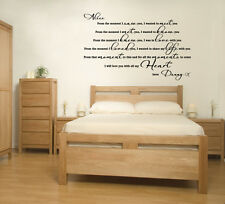 When I saw you, Love Quote - Romantic Valentines Wall Art Decal Sticker
