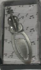 Music Instrument or Notation Crystal Metal Bookmark BNIB