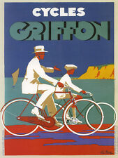 Bicycle Bike Cycles Griffon Beach Sailboat Boat Vintage Poster Repo FREE S/H