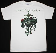 WHITESNAKE RESTLESS HEART'97 COVERDALE DEEP PURPLE RAINBOW NEW WHITE T-SHIRT