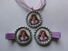 Monster High Clawdeen Wolf Bottle cap necklace and/or Hair clips #27 party favor