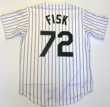 CARLTON FISK CHICAGO WHITE SOX MAJESTIC JERSEY