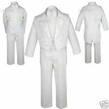 NEW Infant, toddler & Boy Wedding Baptism Formal Party Tuxedo Suit sz:S-20 White