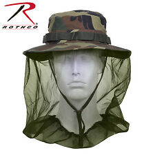 Mosquito Net Cap 5833 Woodland Camo Military Style Boonie Hat w/Mosquito Netting