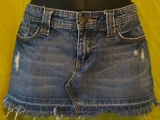 ABERCROMBIE AND FITCH Womens Super Cute Distressed Denim Mini Skirt - Size 00