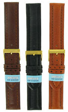 Morellato Air Buffalo Leather Black Brown or Brick Orange Watch Band