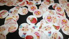 Pre Cut One Inch STRAWBERRY SHORTCAKE BOTTLE CAP IMAGES!  MUST SEE
