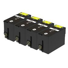 4 XL Black Ink Cartridges non-OEM to replace T1301 Compatible for Printers