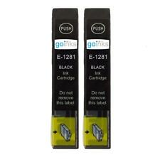 2 Black Ink Cartridges non-OEM to replace T1281 (Fox) Compatible for Printers