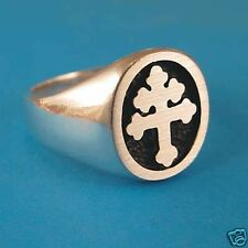 Cross Of Lorraine / Magnum PI Ring - Solid Sterling Silver
