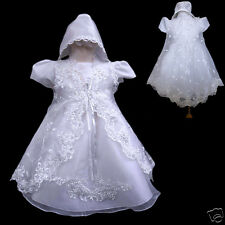 BABY Toddler GIRL CHRISTENING BAPTISM Church DRESS Gown SIZE 0 1 2 3 4 (0-30M)