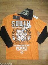 BOYS ORANGE/BLACK SOUTHPOLE T-SHIRT & BEANIE M12/14~XL20~NWT