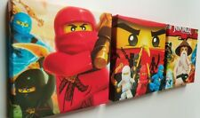 3 X DEEP EDGE BOX  CANVAS PICTURES MADE  WITH LEGO NINJAGO  BRAND NEW