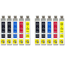 10 Ink Cartridges non-OEM to replace T0715 & T0711 Compatible (2x Set + Black)