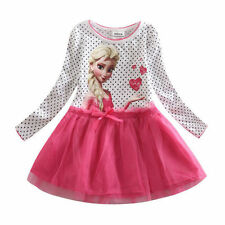 Gir Pinks Outfit Girls School Garden Party Tutu Dresses AGE 1,2Y,3,4Y,5,6,7,8,9Y