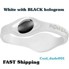 New Power Wristband BLACK hologram Energy Balance Silicone Bracelet - NEW in Box