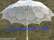 Battenburg 5 colors Ivory white black red...Lace Parasol Umbrella Wedding Bridal