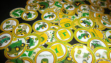 Pre Cut One Inch YELLOW AND GREEN TRACTORS BOTTLE CAP IMAGES!  MUST SEE