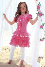 DESIGNER GIRLS  PINK TULLE DRESS PERFECT FOR PARTY OR SPECIAL DAY