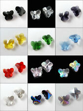6Pcs Glass Crystal Butterfly Spacer Bead 12Colors-1 14mm